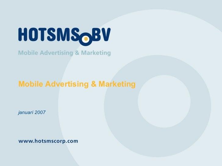 Mobile Advertising & Marketing januari 2007