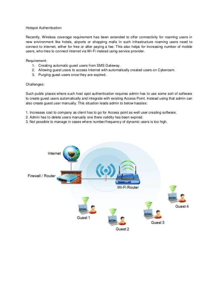Hotspot AuthenticationRecently, Wireless coverage requirement has been extended to offer connectivity for roaming users in...