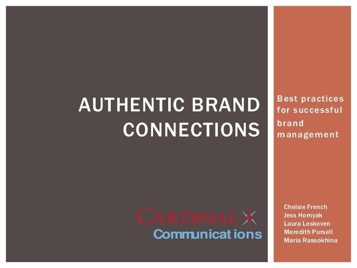 Authentic Brand Connections: Cardinal Communications