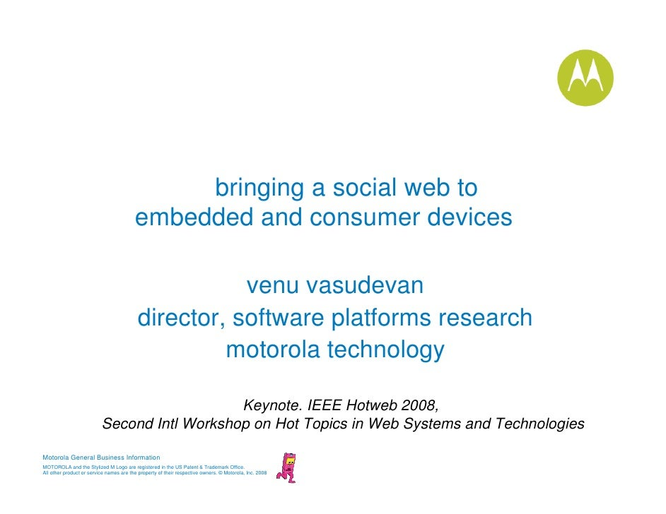bringing a social web to                                          embedded and consumer devices                           ...