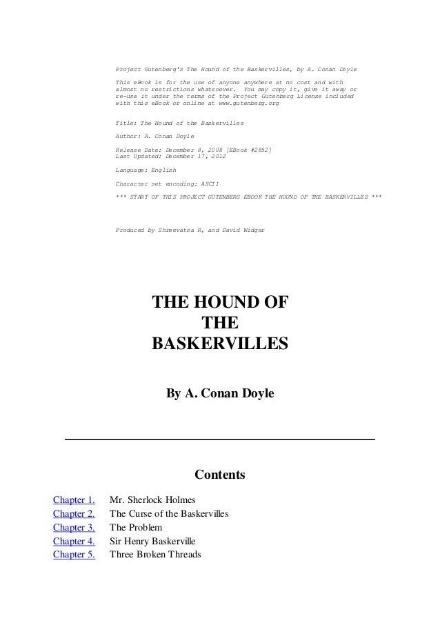 hound of the baskervilles ebook