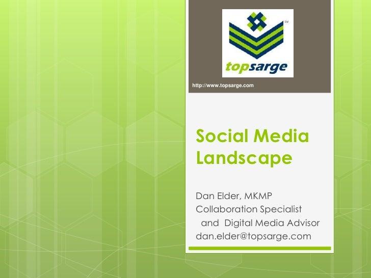 http://www.topsarge.com<br />Social Media Landscape<br />Dan Elder, MKMP<br />Collaboration Specialist<br />  and  Digital...