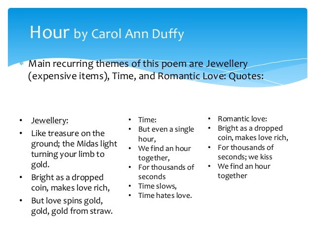 compare shakespeare s sonnet 116 and hour by carol ann duffy Aqa poetry: compare 'hour' by carol ann duffy 'sonnet 116' by william shakespeare 'sonnet 43' (sonnets about love) 'in paris with you.