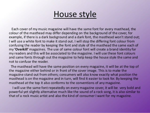 House Style Of Magazine