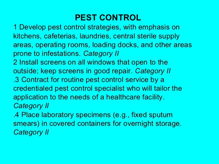 house keeping pest control Textile pests include insects such as carpet beetles and clothes moths if you find these, it's time for a thorough cleaning cleaning, washing textiles in 60 degrees ( or freeze them down for several days) and use pesticides in the places where you found the insects you should also inform the housing office about your.