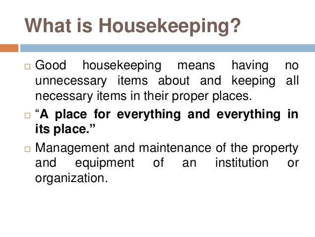 housekeeping presentation