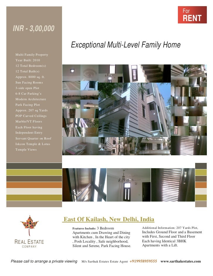 House on rent in south delhi c all 09958959555