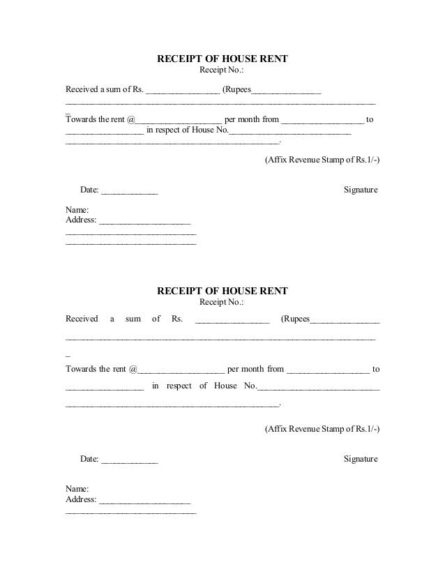 Doc585300 Monthly Rent Receipt Format Rental Receipt Template – Monthly Rent Receipt