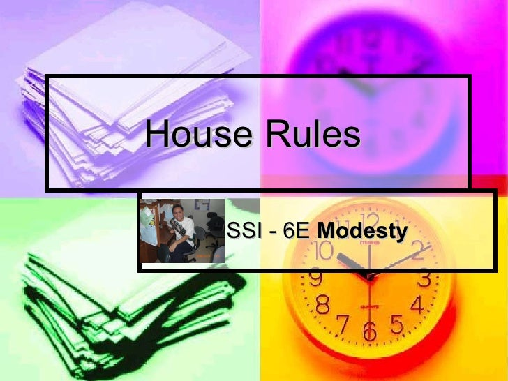 House Rules Edteach Requirements