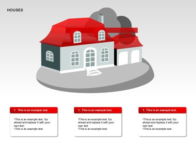 Private Houses Shapes for PowerPoint