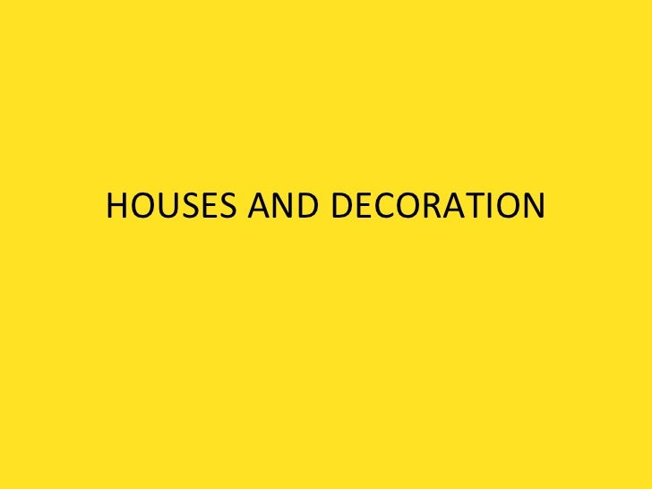 Houses and decoration vocab for blog