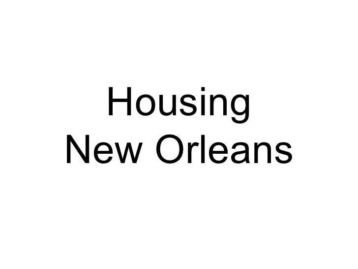 Housing New Orleans
