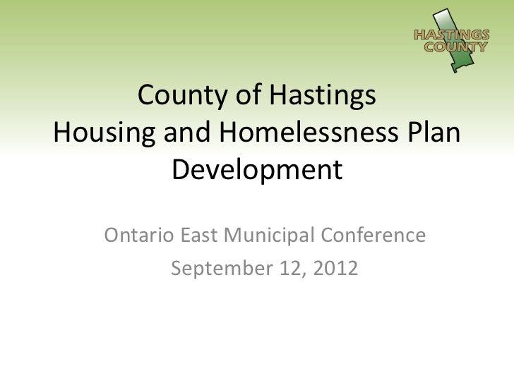 Housing and homelessness plan presentation2