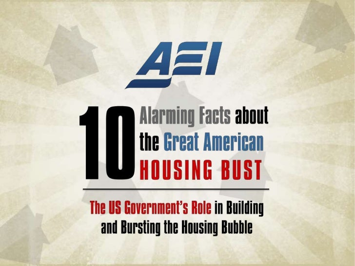 The US Government's Role in Building and Bursting the Housing Bubble