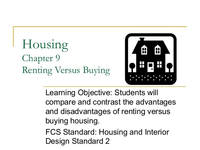 Persuasive essay on renting vs buying a home
