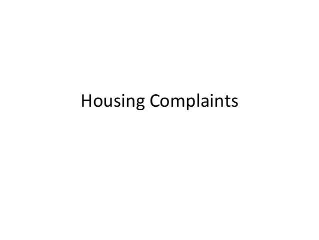 Housing complaints