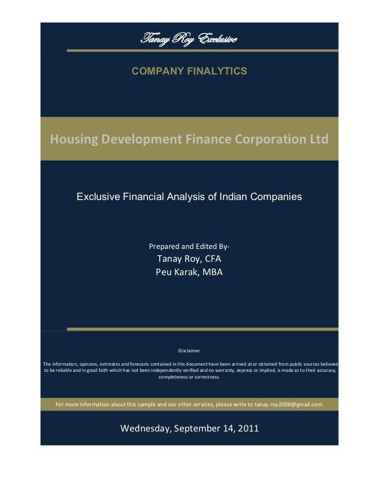 gtÇtç eÉç XåvÄâá|äx                                           COMPANY FINALYTICS   HousingDevelopmentFinanceCorporation...