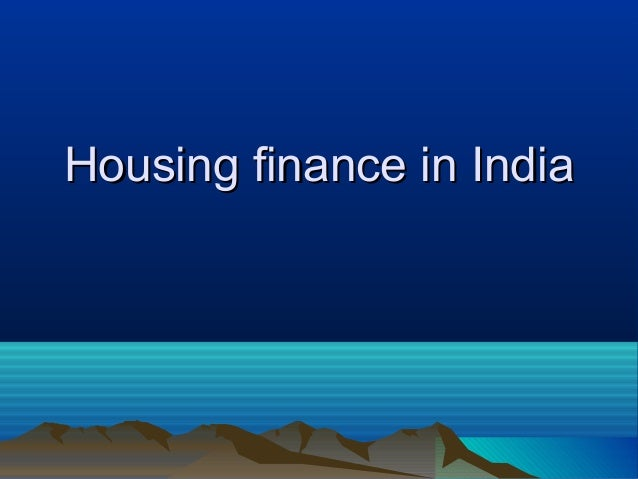 Housing finance in India
