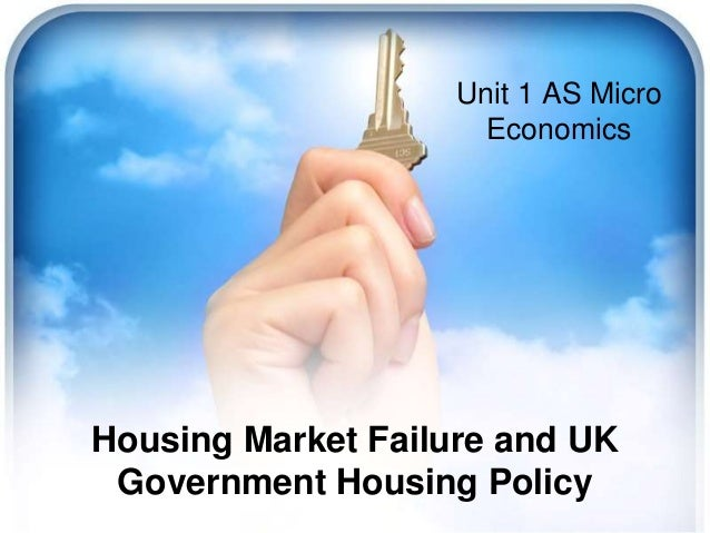 Housing Market Failure and UK Government Housing Policy Unit 1 AS Micro Economics