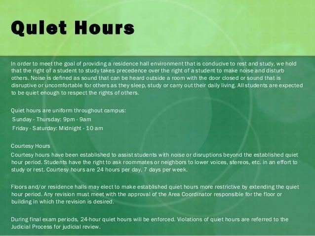 violating quiet hours