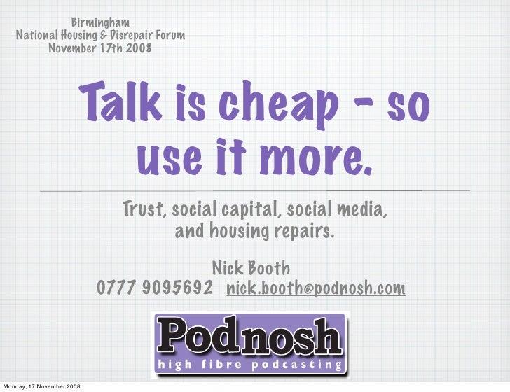 Social Media & Social Housing