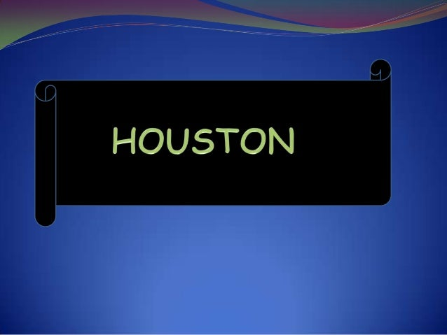 WELCOME TO HOUSTONThe fourth largest city in the United States and thelargest in the state of Texas. In the Census, twotho...
