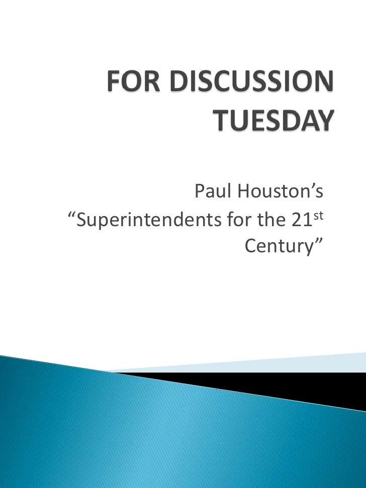 Houston   Discuss Guide