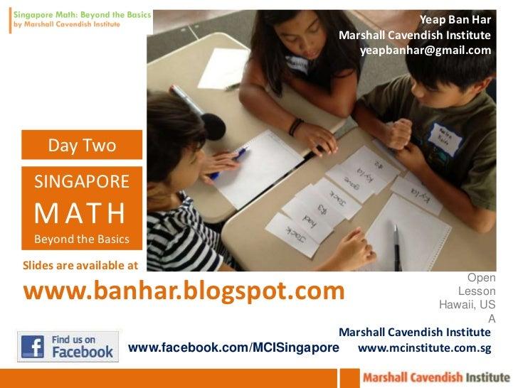 Houston Advanced Singapore Math Institute Beyond the Basics 02