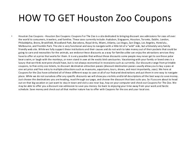 Related Keywords Suggestions For Houston Zoo Coupons 2016
