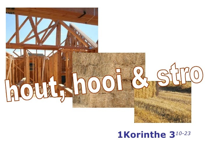 Hout hooi stro