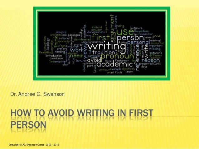 dissertation written first person
