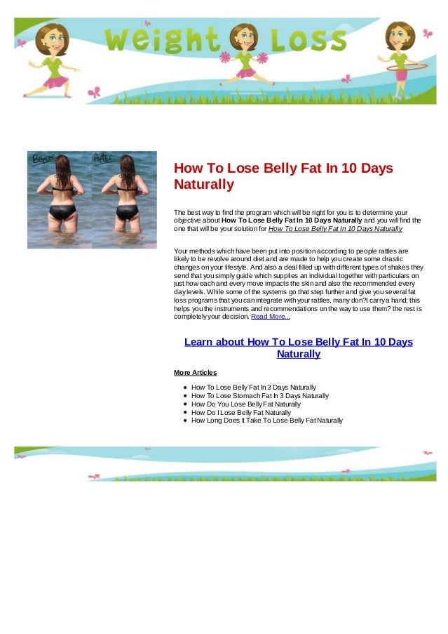 Lose belly fat in 10 days naturally