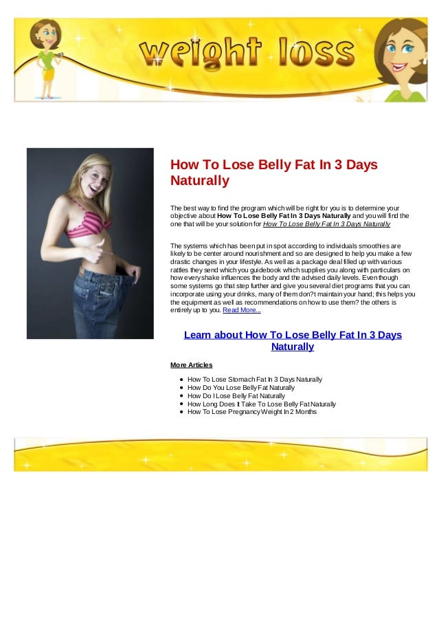 Belly fat 3 days juice
