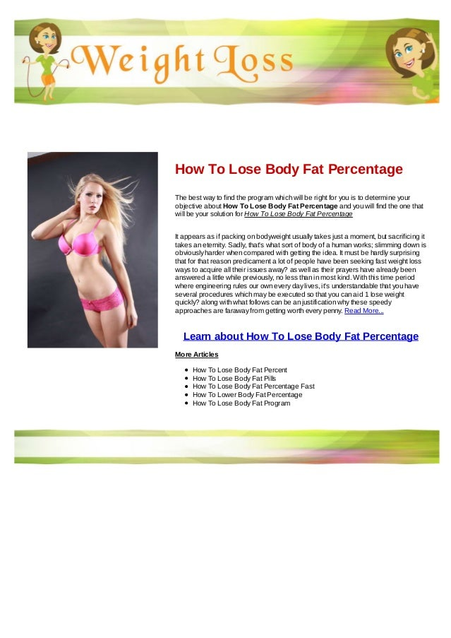 How to lose body fat in 5 months