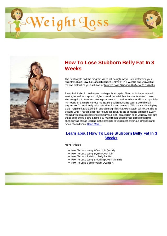 How to lose stubborn belly fat in 3 weeks 9H2OETev