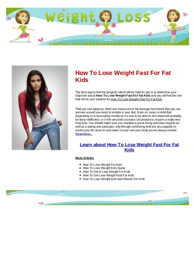 How can i lose weight fast
