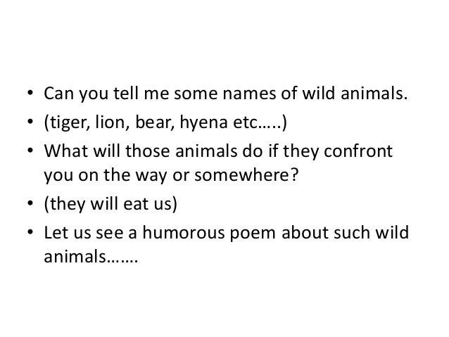 How to tell wild animals