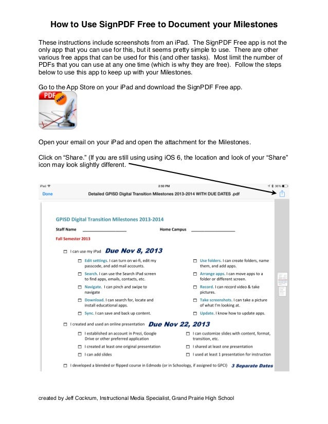 How to use sign pdf to document your milestones.pdf