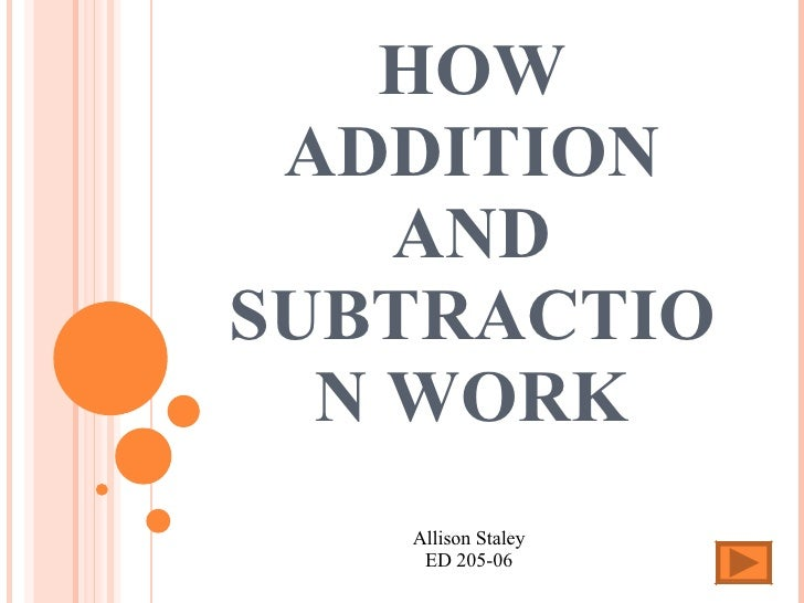 How Addition And Subtraction Work