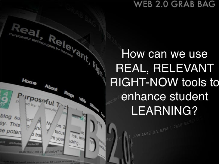 How can we use  REAL, RELEVANT RIGHT-NOW tools to   enhance student     LEARNING?