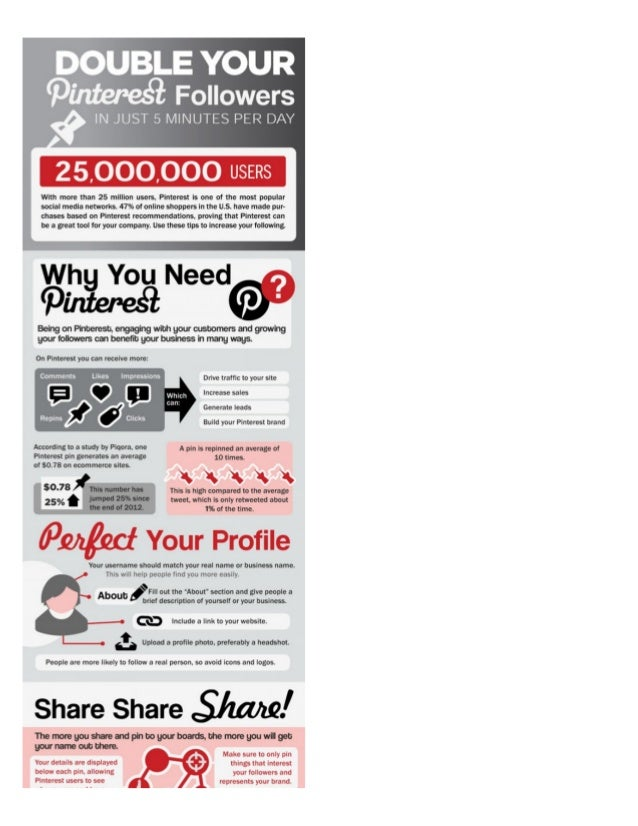 Double Your Pinterest Followers in Just Five Minutes Per Day (Infographic)