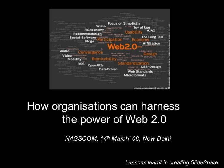 How organisations can harness the power of Web 2.0?