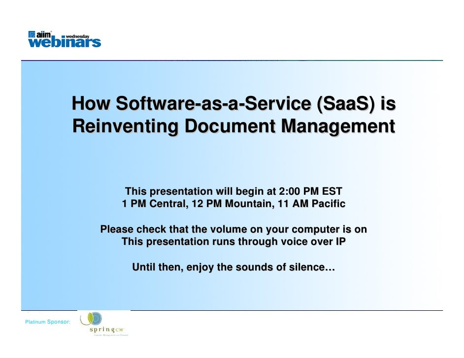 How Software-as-a-Service (SaaS) is                  Reinventing Document Management                               This pr...