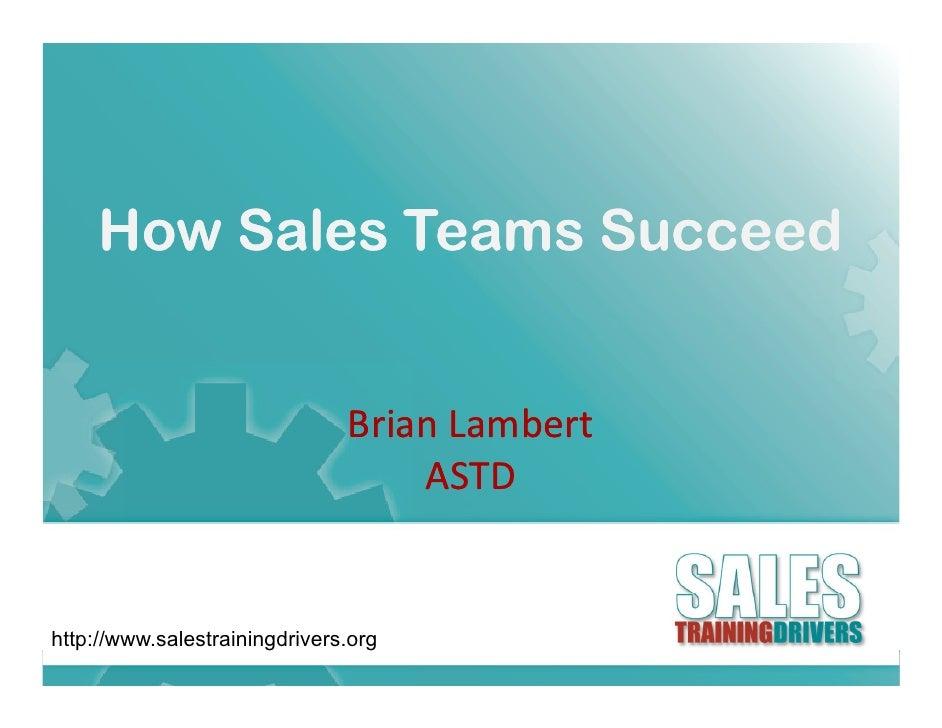 How Sales Teams Succeed                                  BrianLambert                                         b          ...