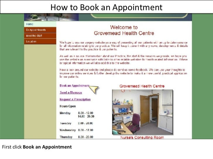How to Book an Appointment First click  Book an Appointment