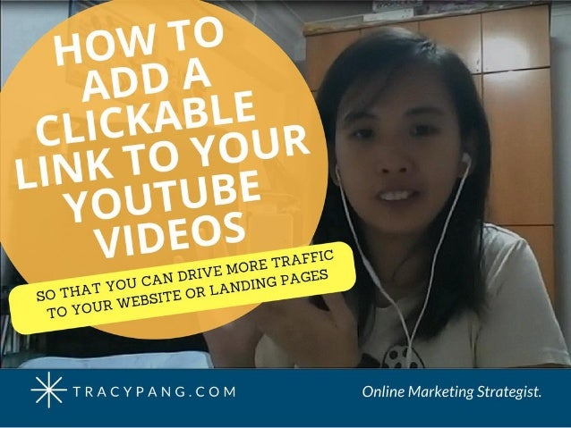 how to make a clickable link in a video