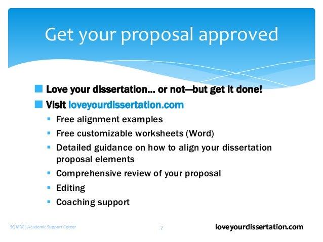 elements of a good dissertation proposal