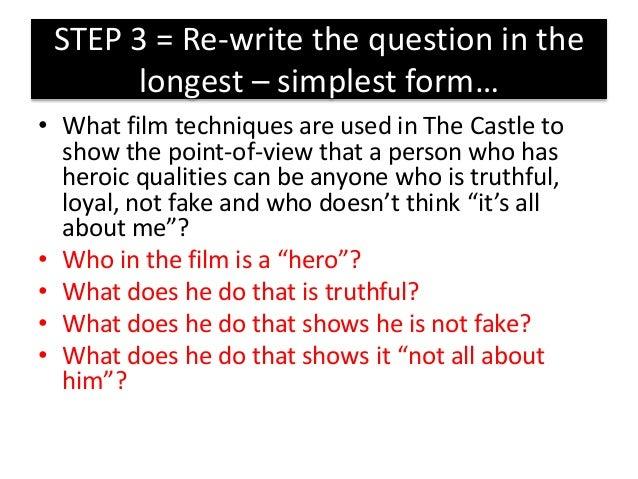 How do you write an essay question?