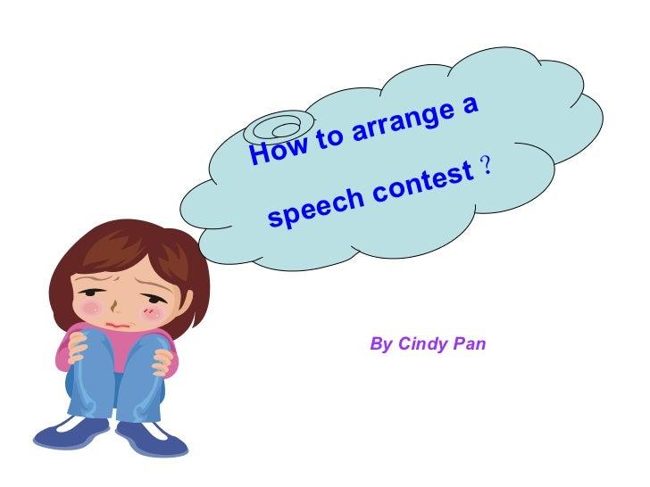 How To Arrange A Speech Contest