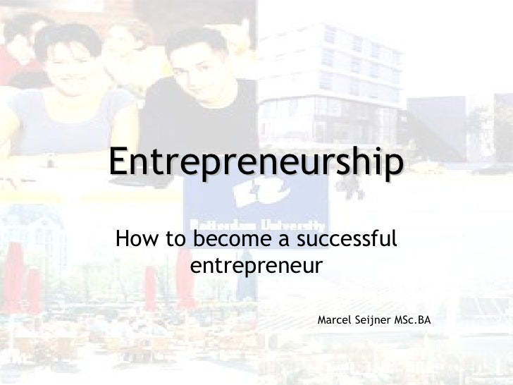How To Become A Successful Entrepreneur V1